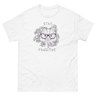 Stay Pawsitive Crew Neck T Shirt
